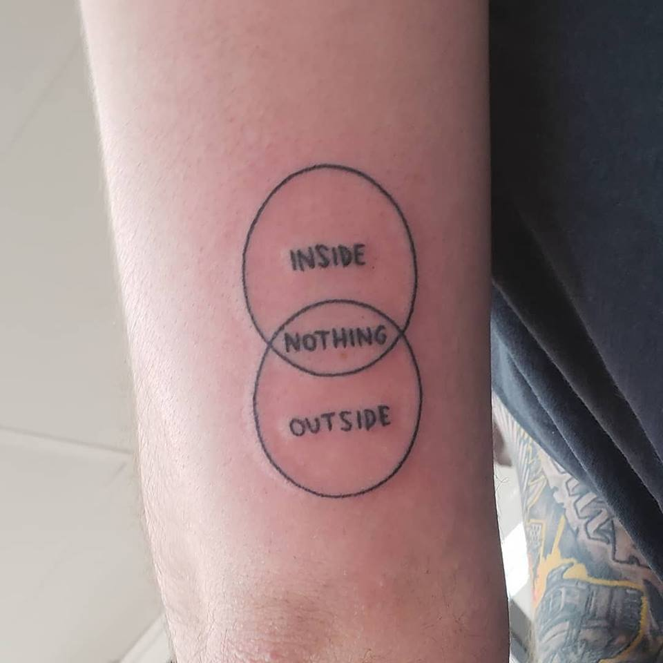 hight resolution of venn diagram stick and poke tattoo inspired by bojack done by hunter at hello hunter tattoo in sydney australia