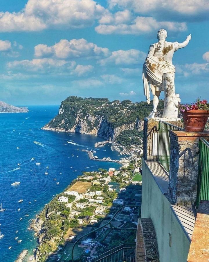 View of Capri from Hotel Caesar Augustus (Photo credit to @pinkines)