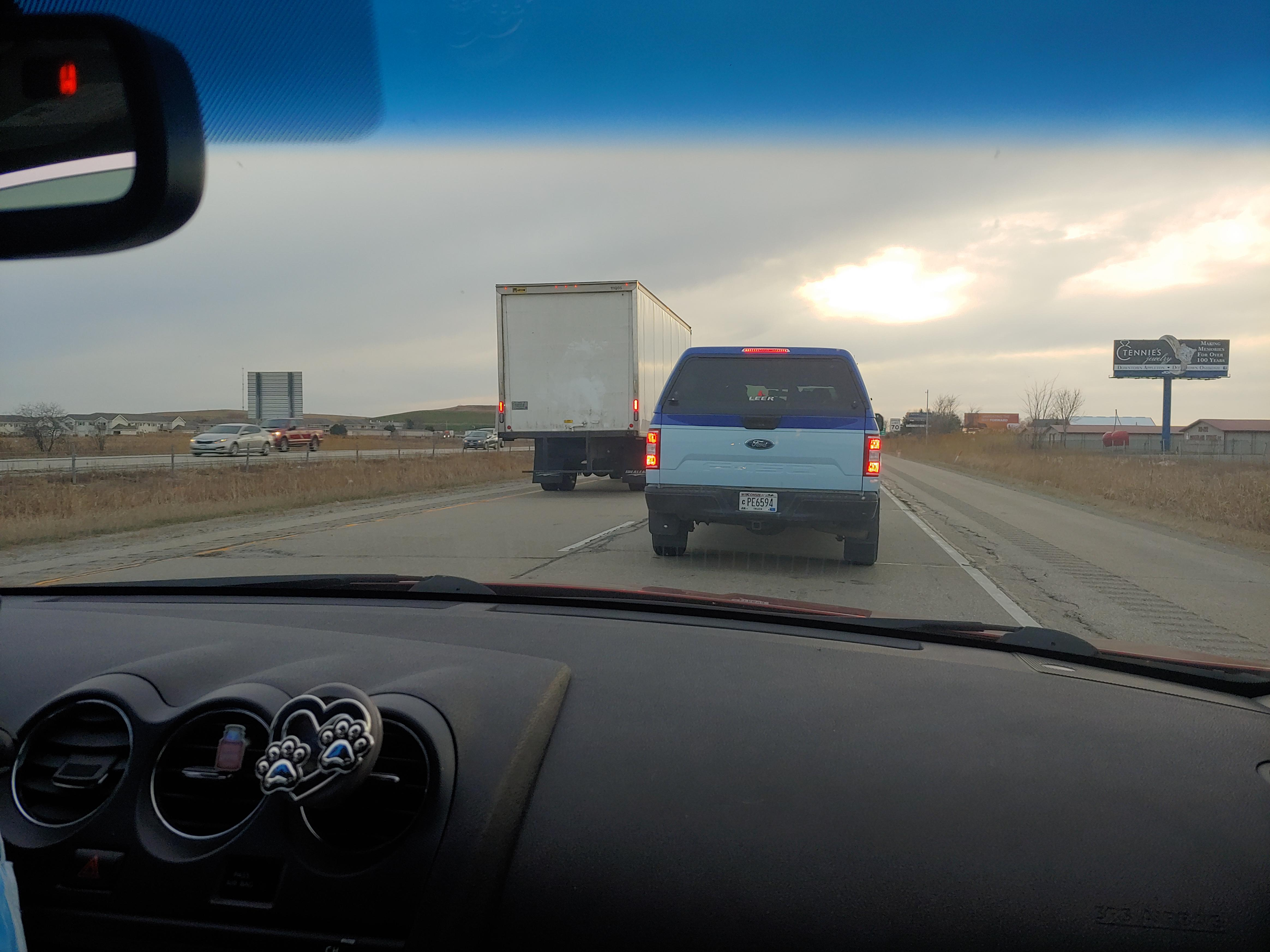 Traffic jam on highway by Little chute : wisconsin
