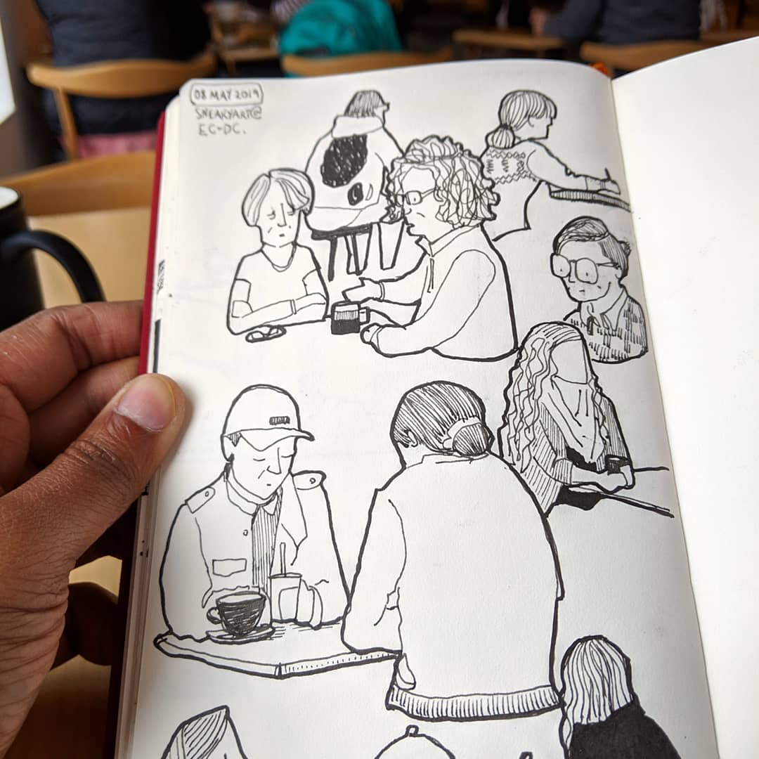 Morning Practice Drawing People At A Cafe Is A Great Way To Practice People Drawings Learnart