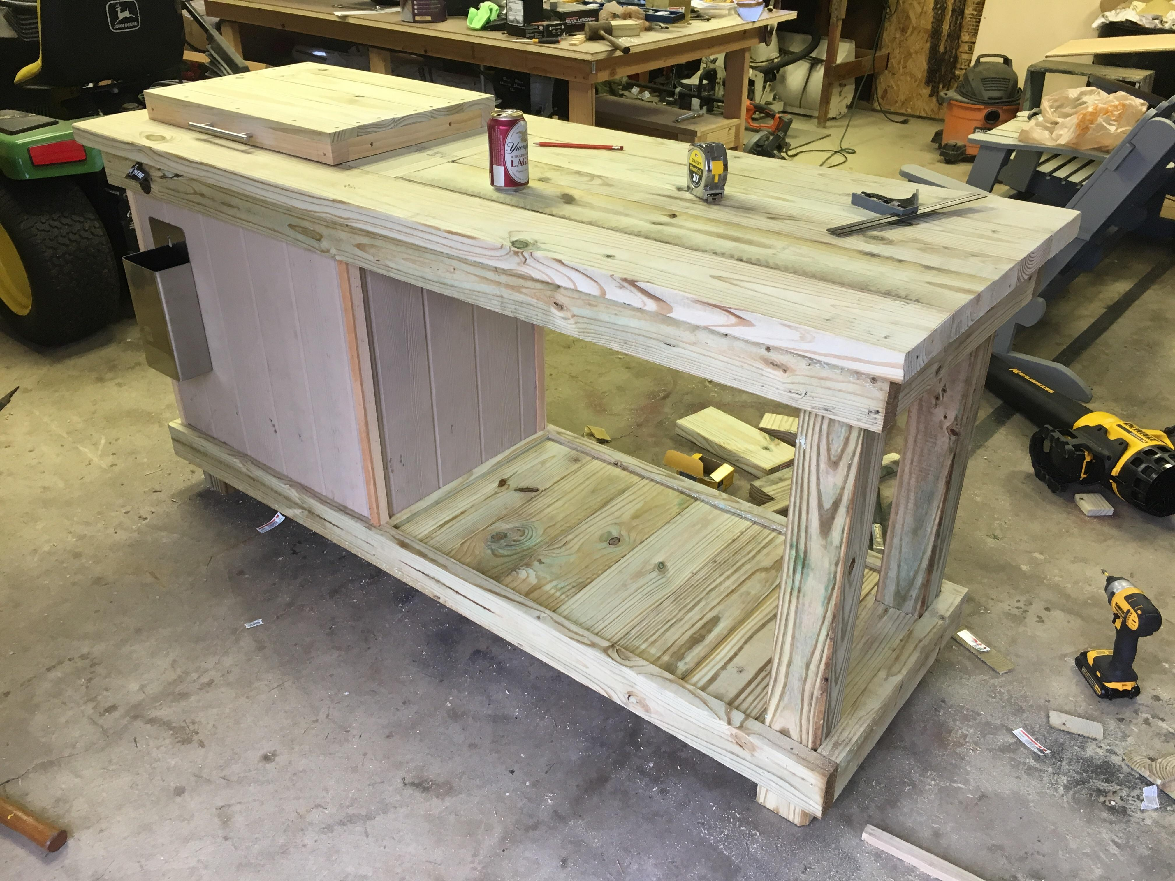 my biggest project yet a patio cooler