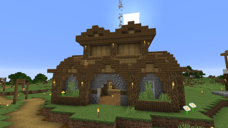 Made a Town Hall for a realm I m currently in : Minecraft