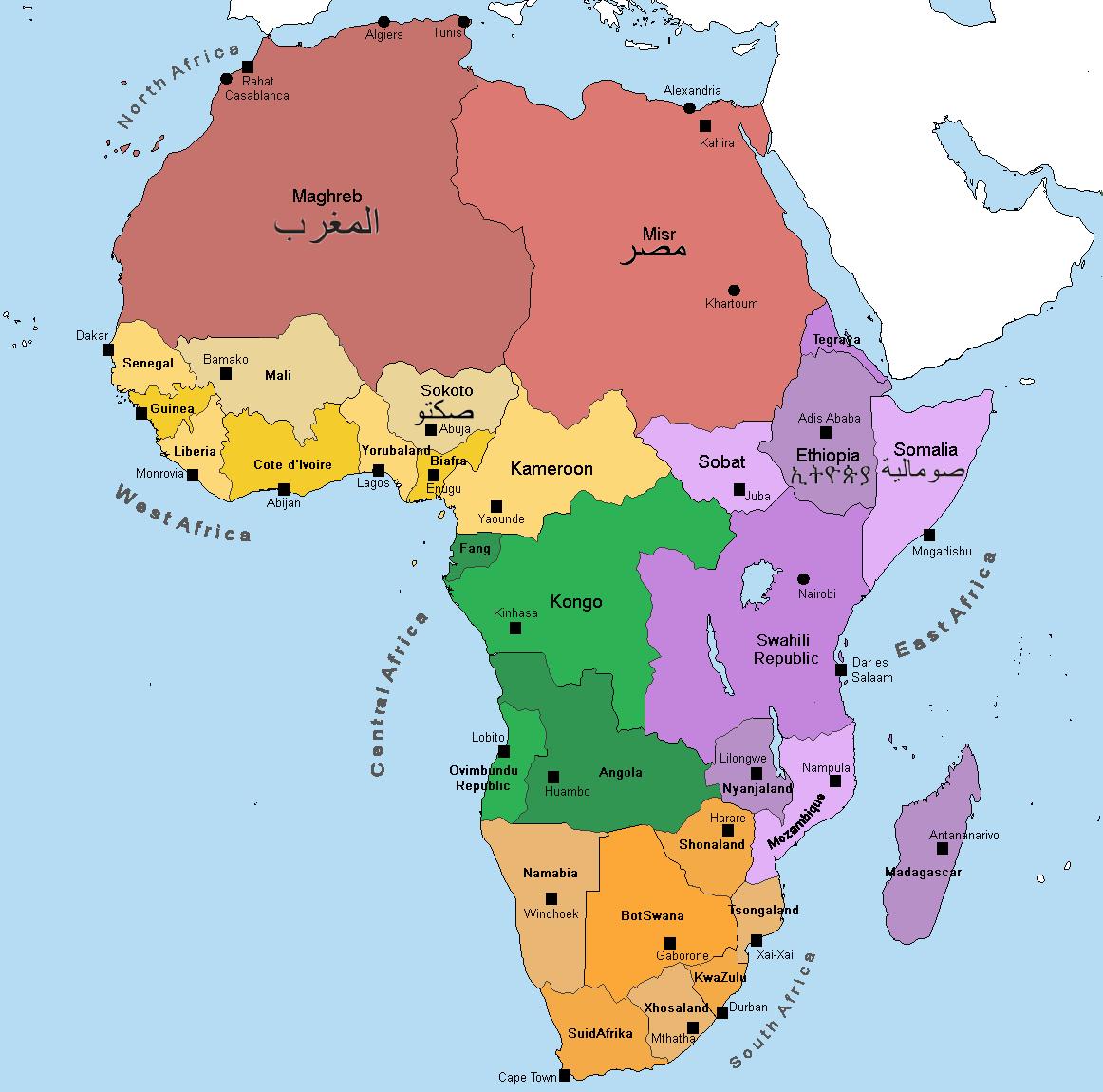 Alternate Africa Map Description In Comments Imaginarymaps
