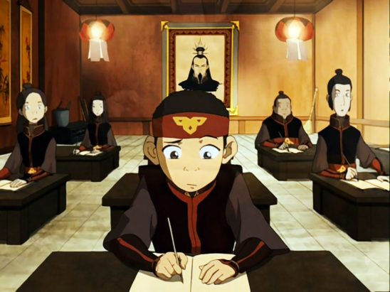 I always figured the symbol on Aang's headband was just a stand-in for his  arrow, but I never realized that it was also upside down : TheLastAirbender