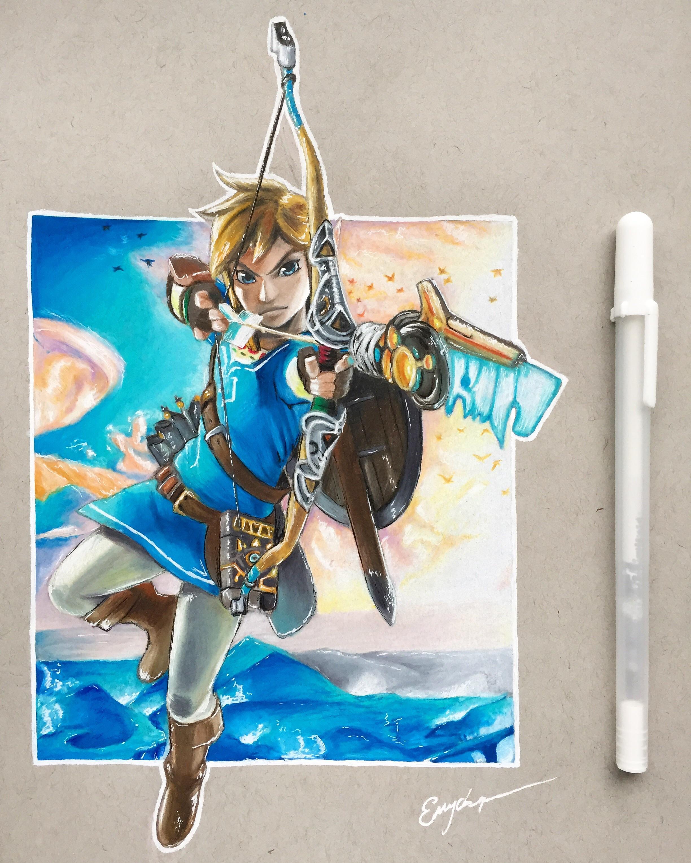 How To Draw Zelda Breath Of The Wild : zelda, breath, Breath, Pencil, Drawing!, Zelda