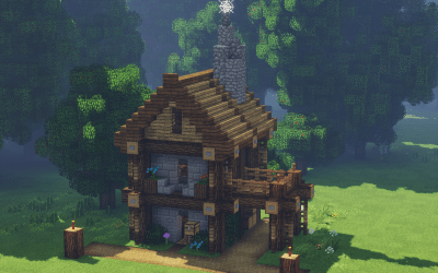 minecraft medieval town merchant construction building redd loading started ve