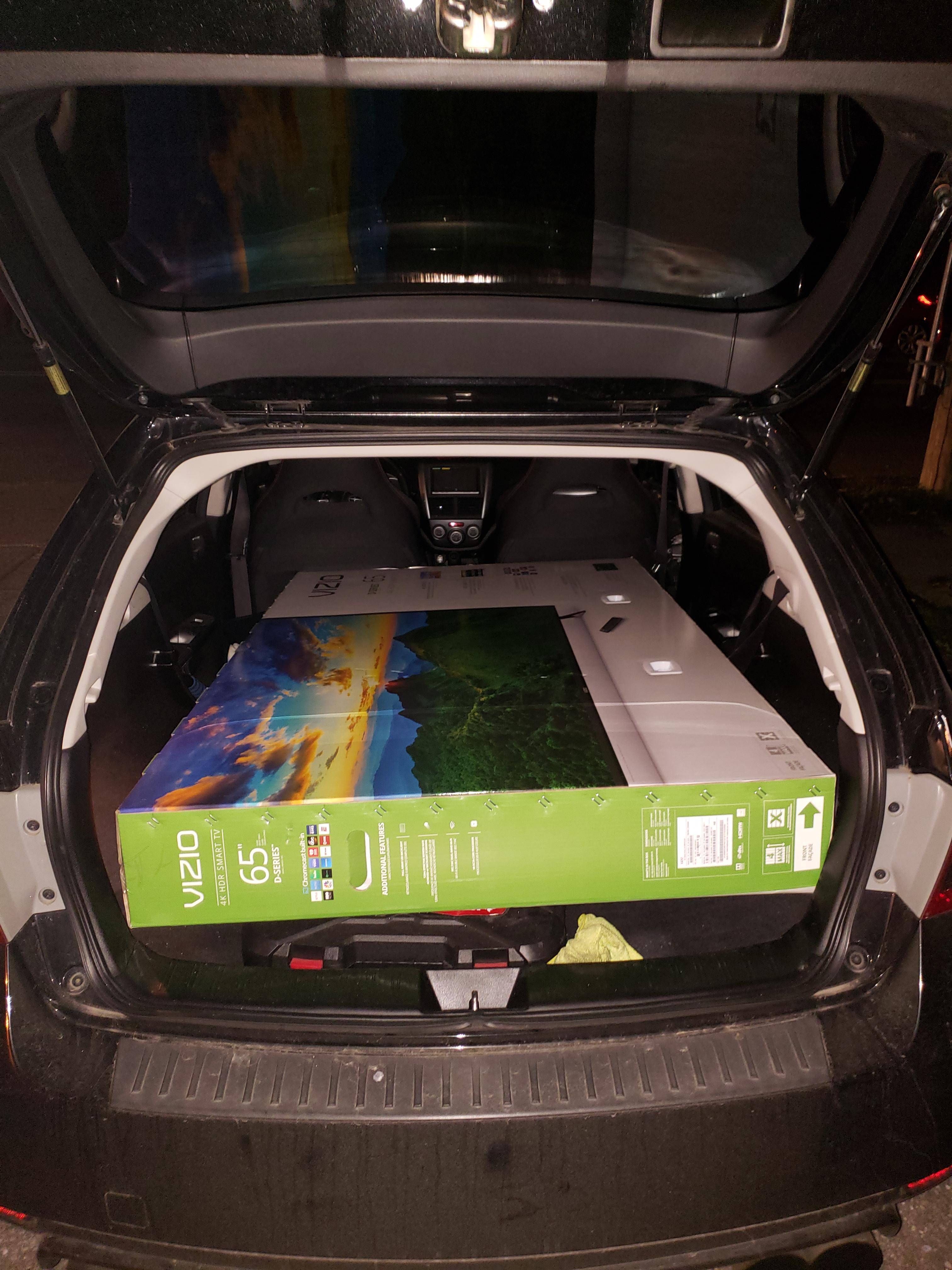 Will A 65 Tv Fit In A Car : Wondering,, Hatch!, Subaru