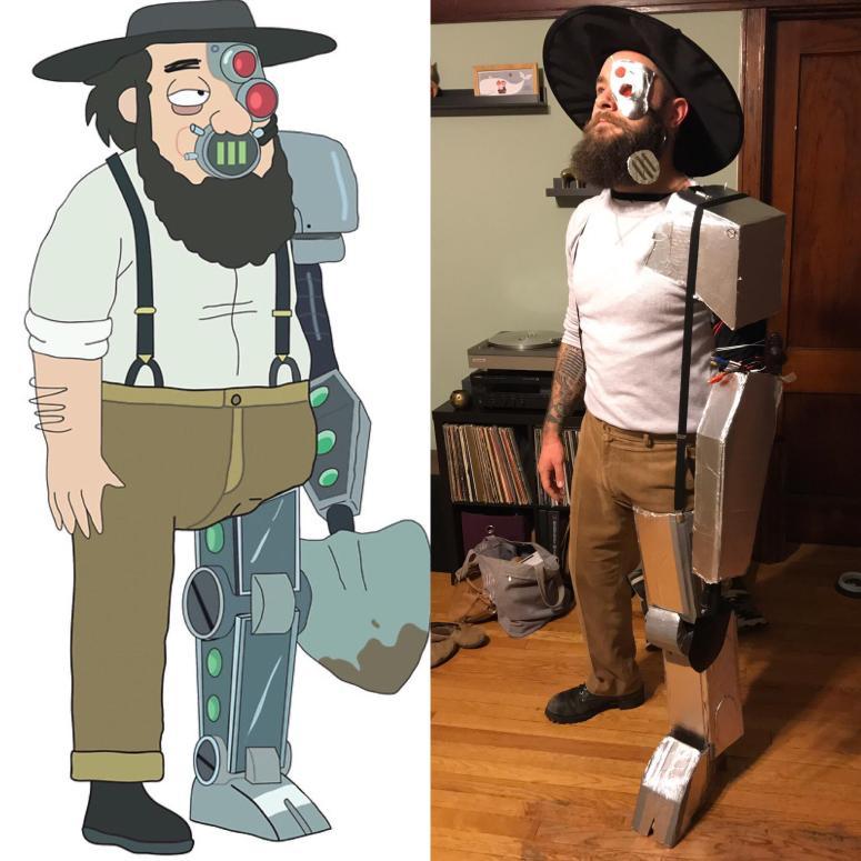 Happy Halloween! How'd I do with my Amish Cyborg ...