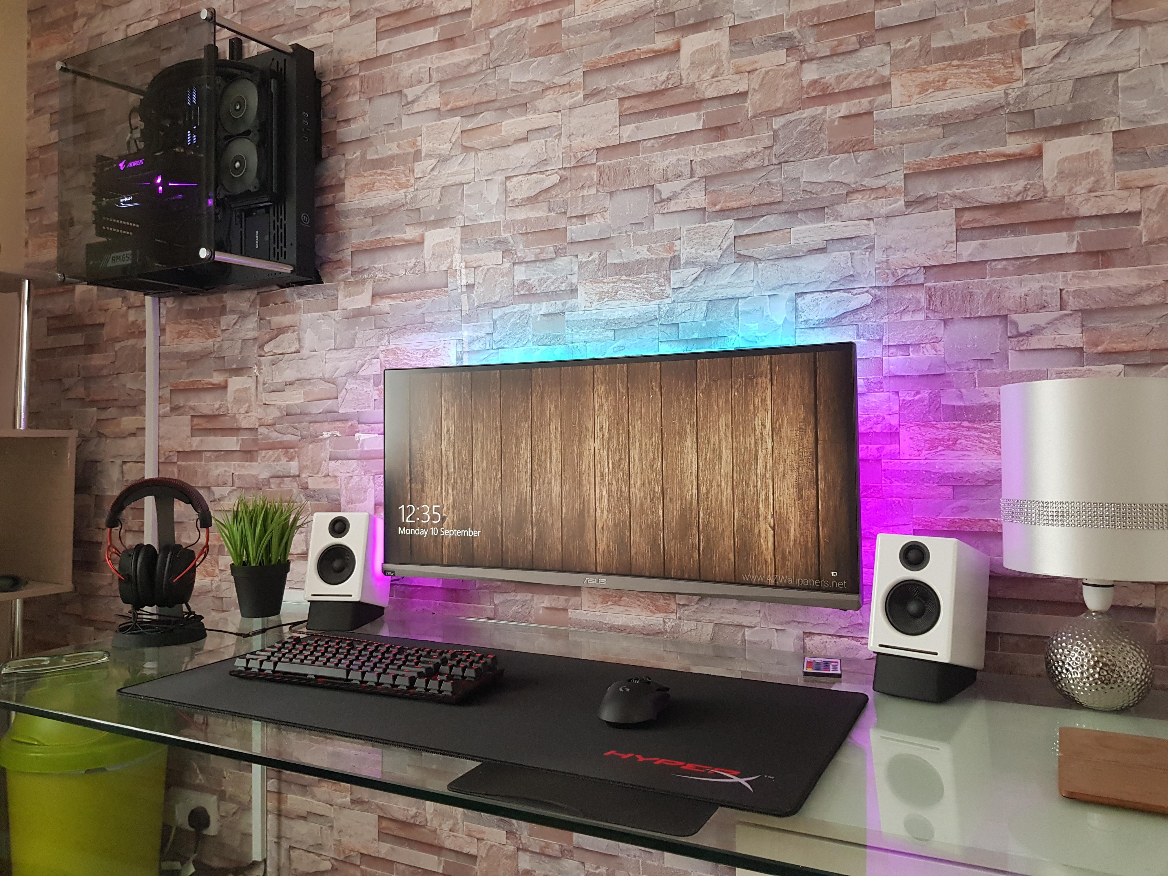 bedroom gaming setup ft