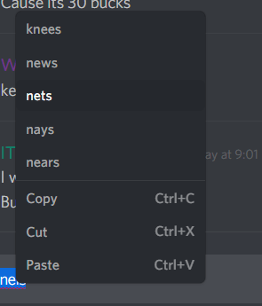 spellcheck on discord canary
