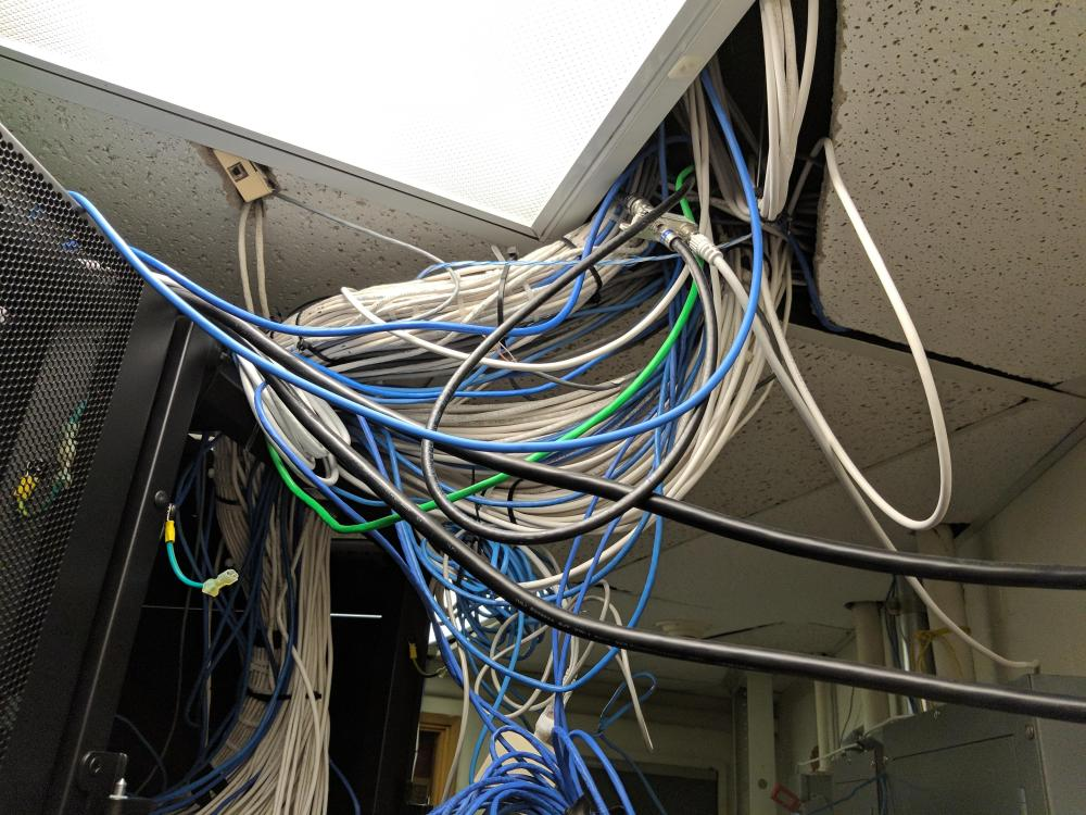 medium resolution of where all of our server room wires come in