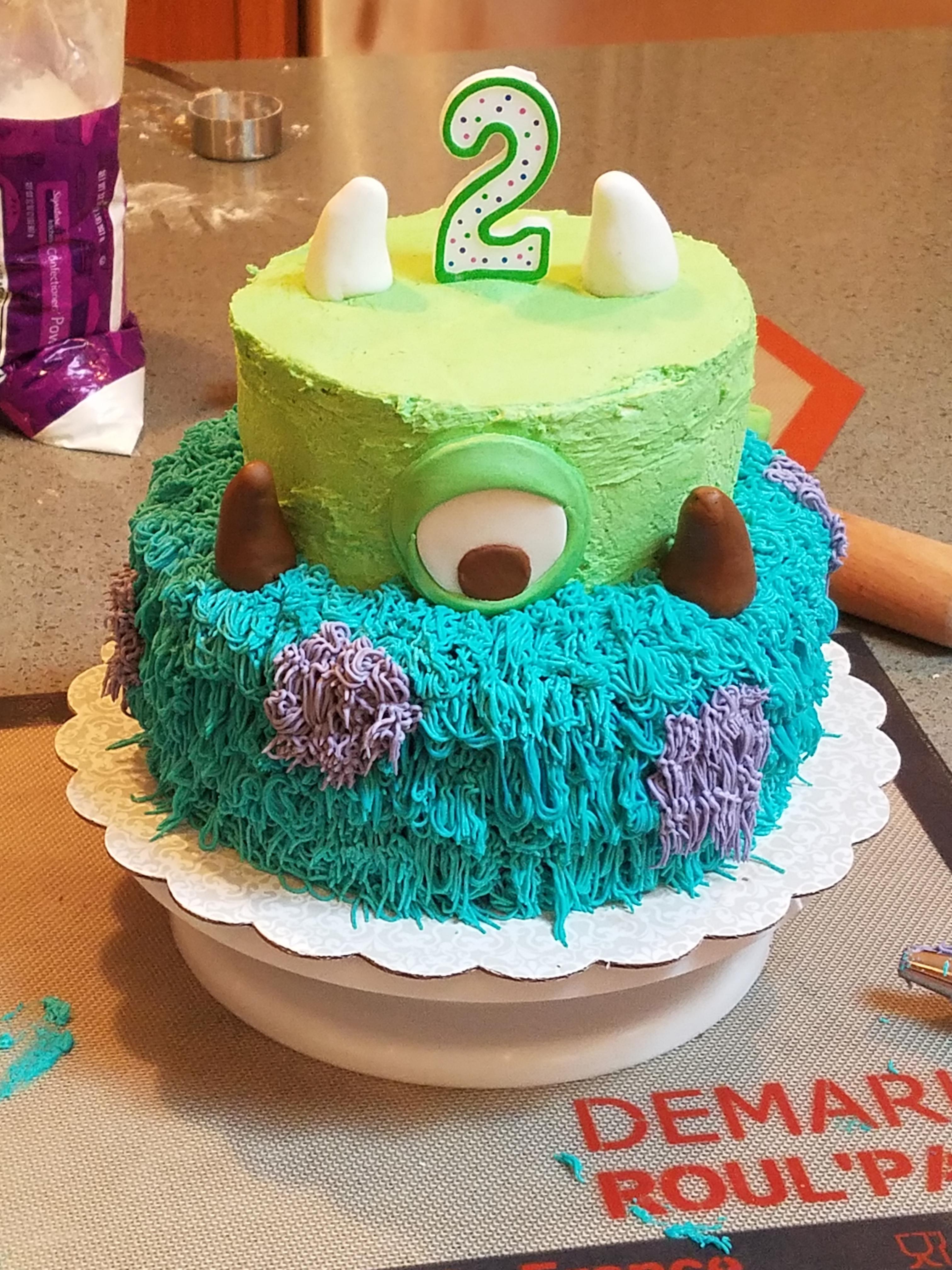 2 Year Old Birthday Cake : birthday, Birthday, Loves, Monsters, Cakedecorating