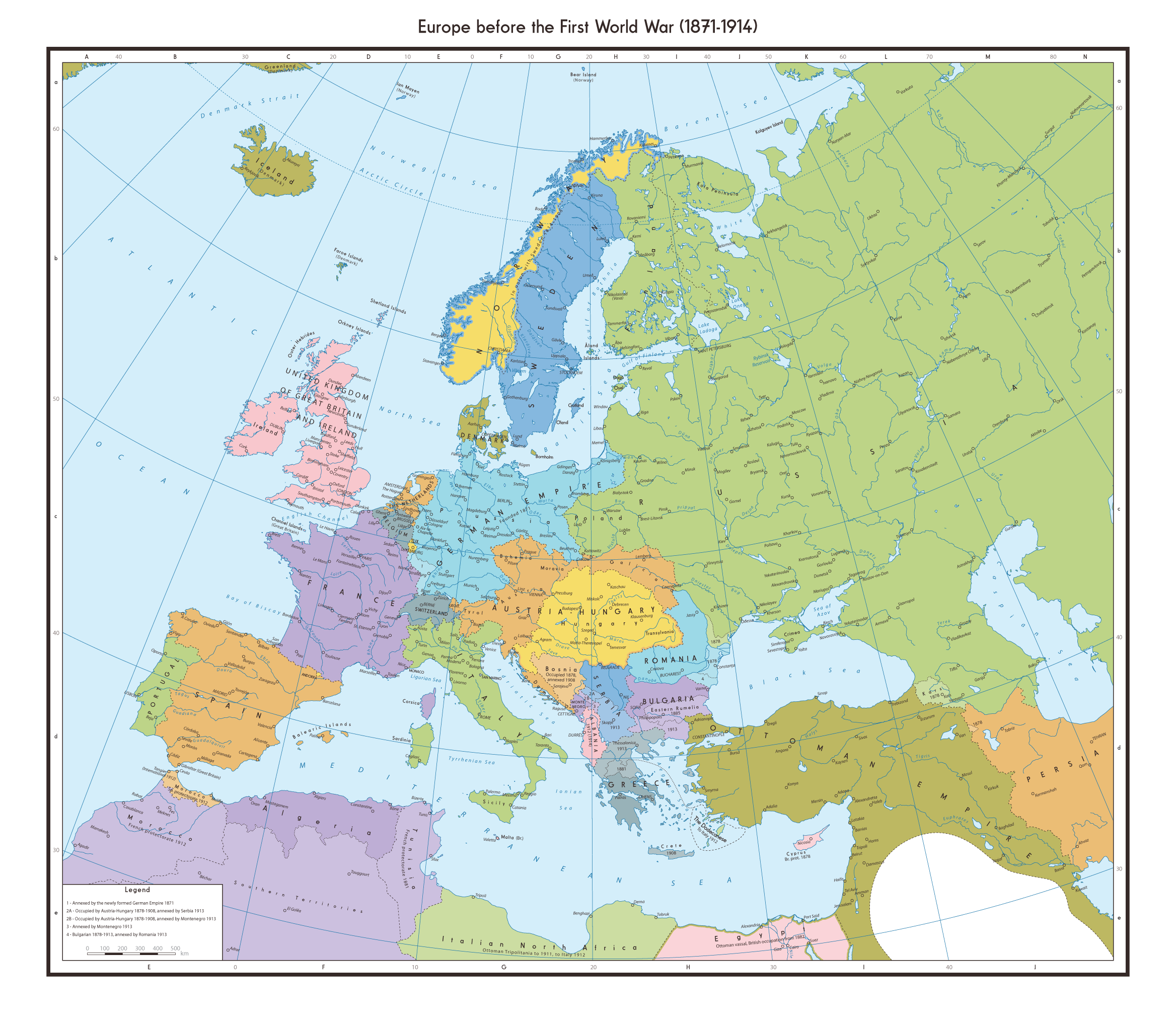 Map Of Europe Before The Outbreak Of Ww1 Map