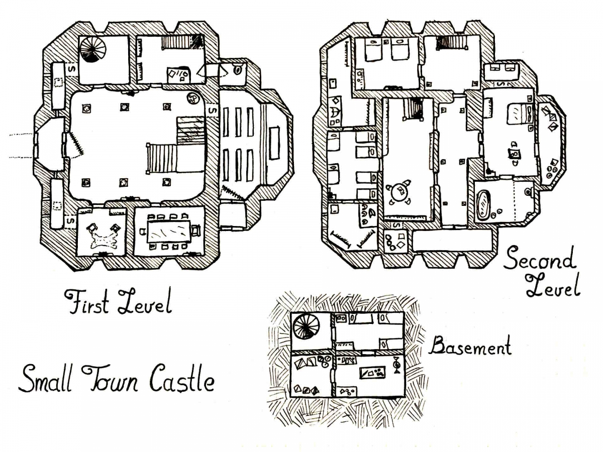 Small Town Castle By Derek Ruiz 50 Map Index In Comments