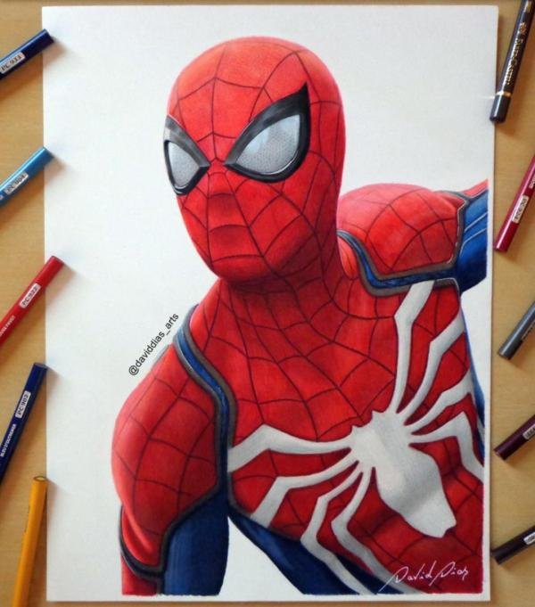 Spider-man Ps4 Artwork Daviddiaspr. Spiderman