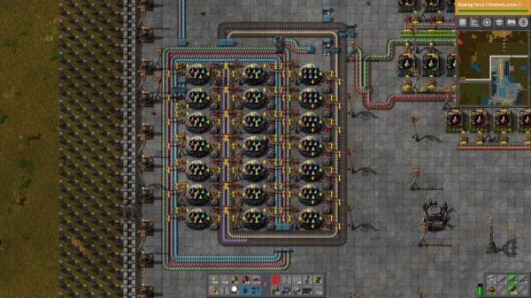 Factorio Purple Science Layout - Year of Clean Water