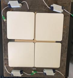 how can i wire these four led panels together to a usa household plug  [ 3024 x 4032 Pixel ]