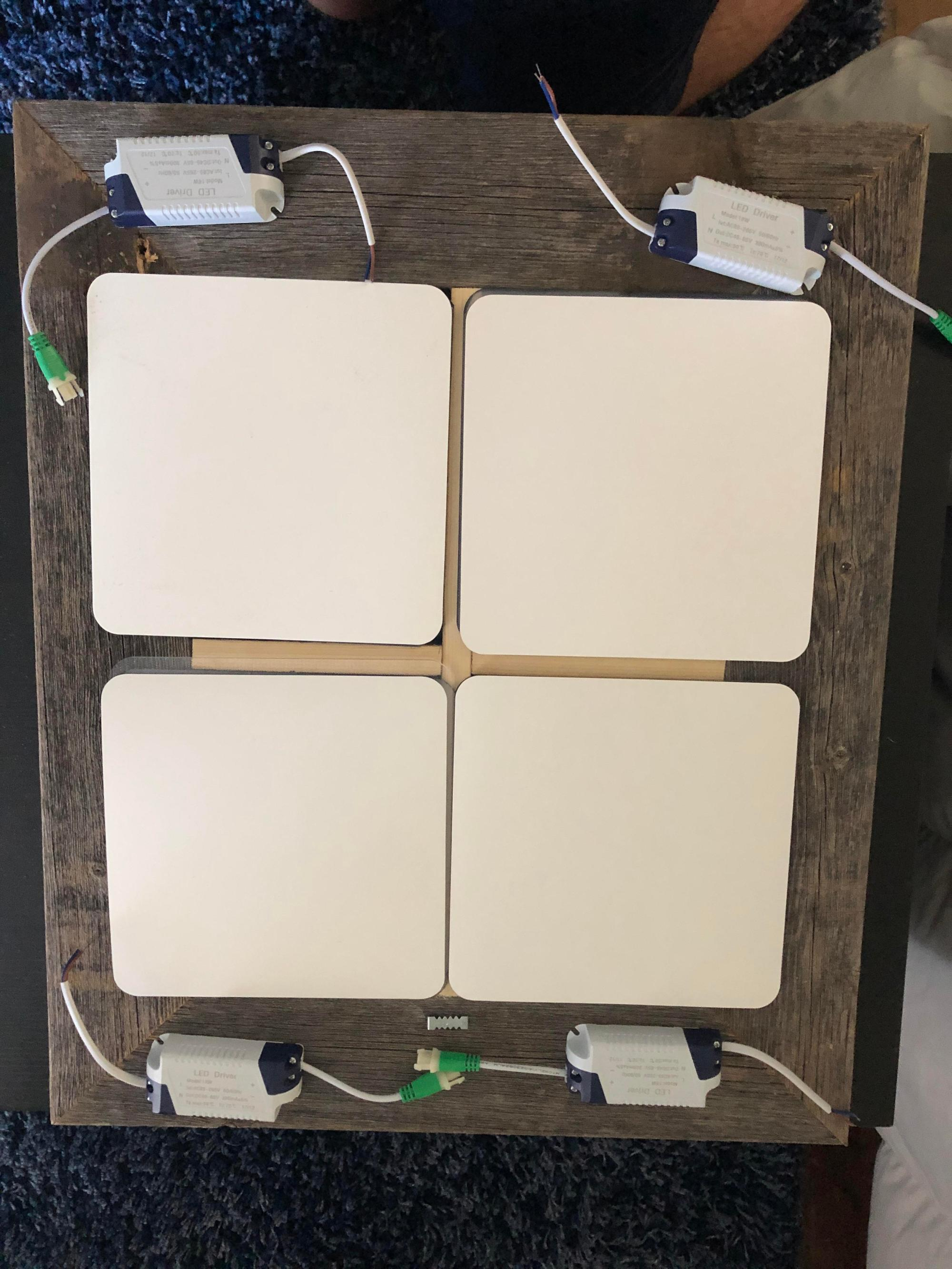 hight resolution of how can i wire these four led panels together to a usa household plug