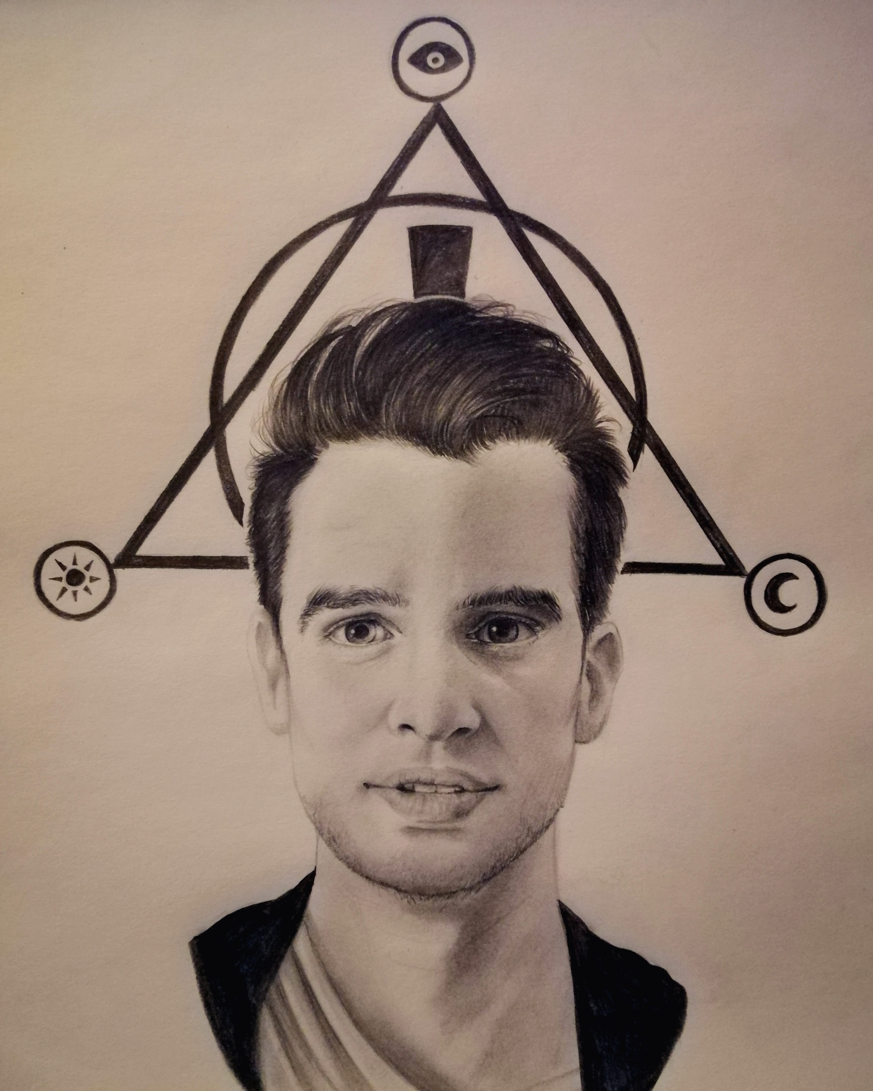 Brendon Urie Drawing : brendon, drawing, Portrait, Brendon, (Panic!, Disco),, Hours, Drawing