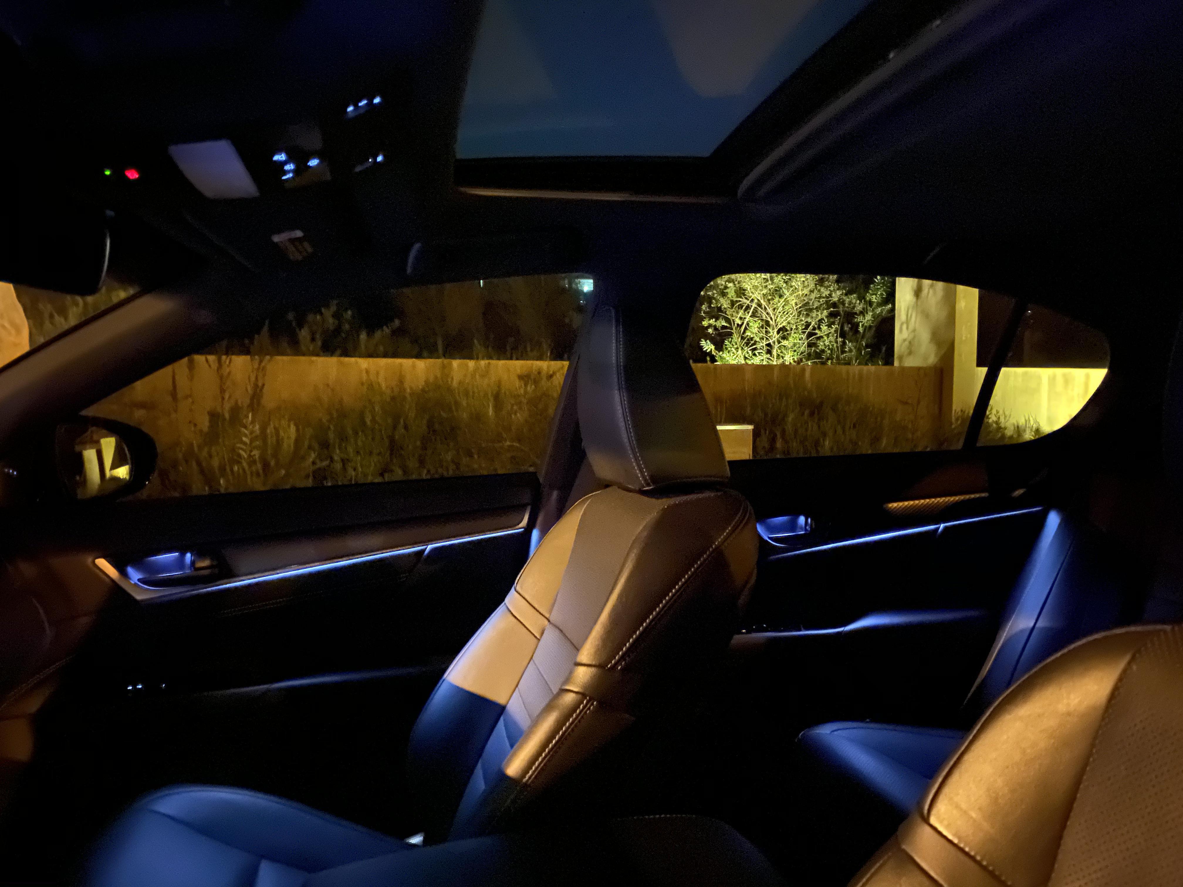 classy ambient lighting lexus