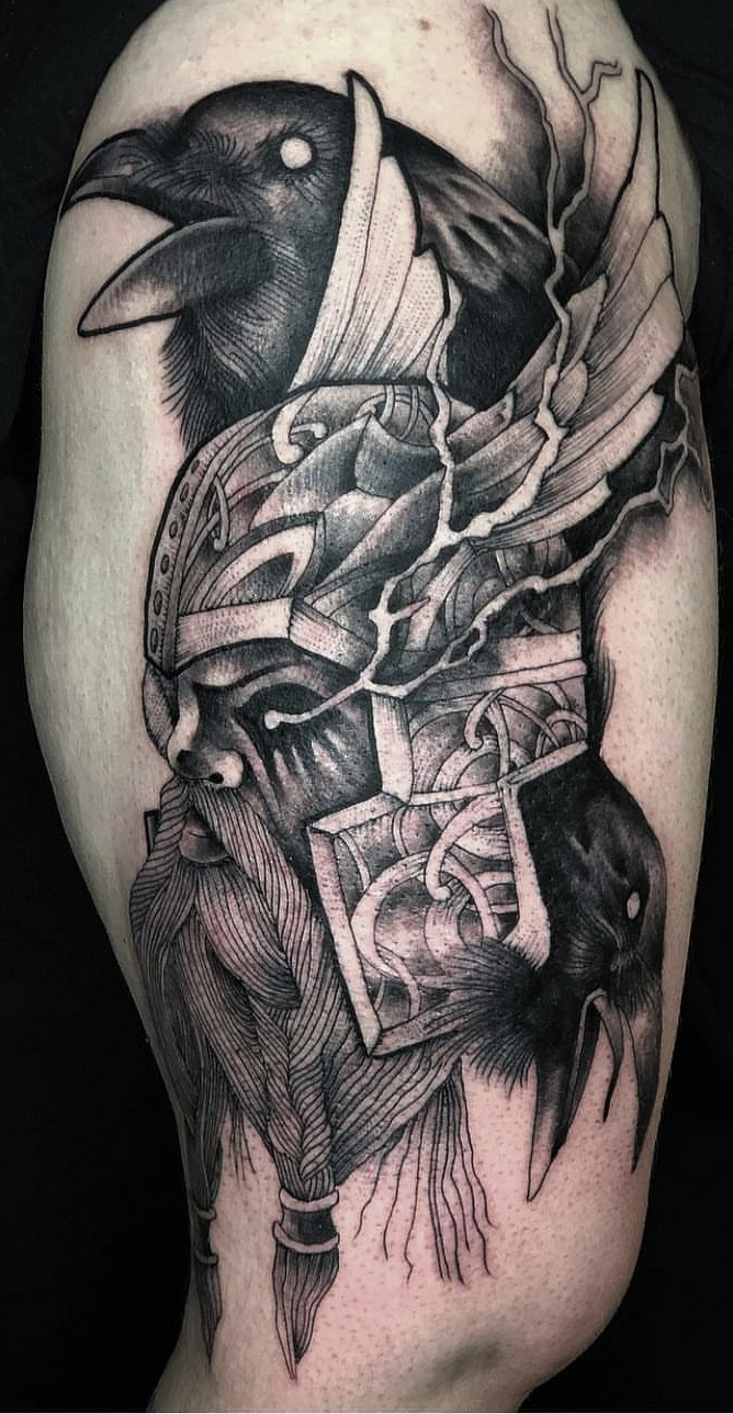 New To The Sub Thought You Guys Might Appreciate My Odin Tattoo Norse