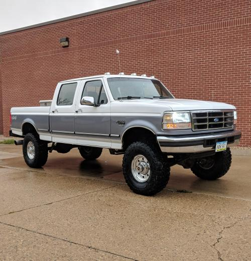 small resolution of my obs 1997 ford powerstroke 7 3 i just did the lift and tires a few days ago looks pretty good for being a 205k mile midwest truck