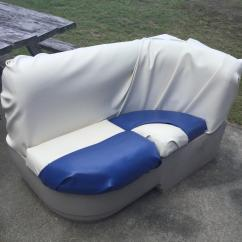 Recovering Chair Cushions Vinyl Power Lift Medicare How To Reupholster A Boat Seat Brokeasshome