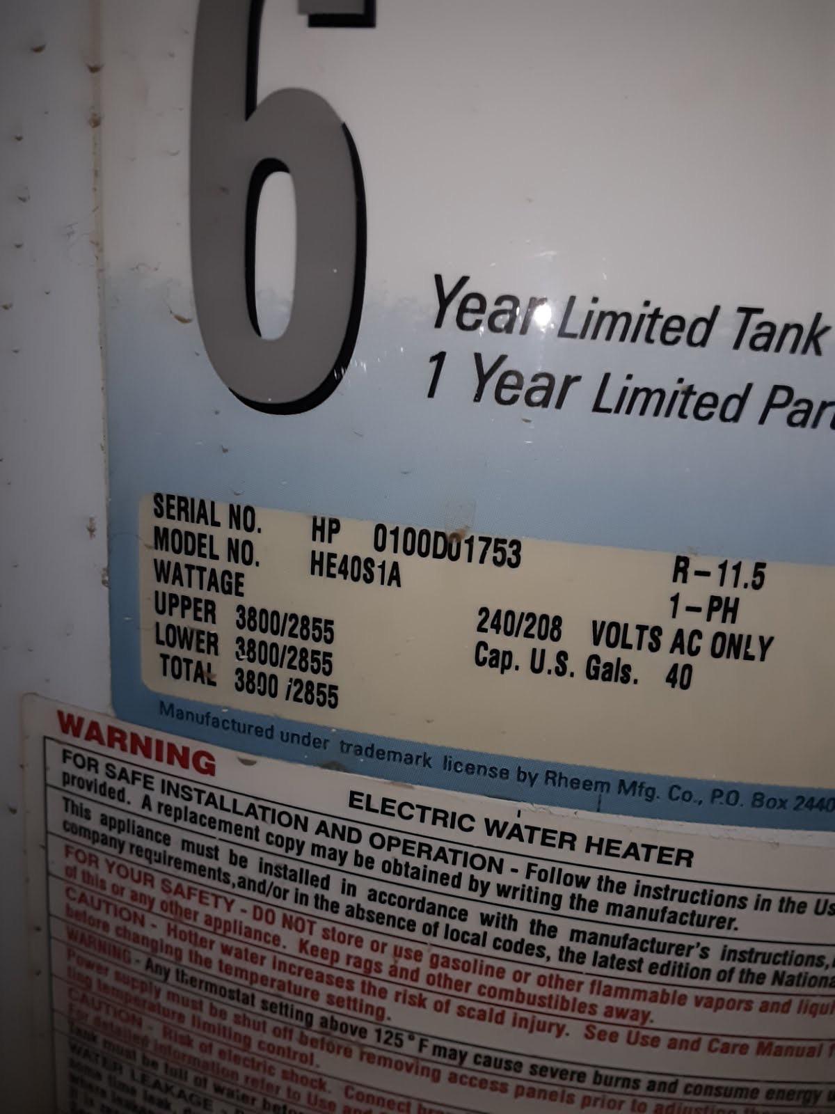 Ge Water Heater Serial Number : water, heater, serial, number, According, Website,, Water, Heater, 1973..., Can't, Right?, Plumbing