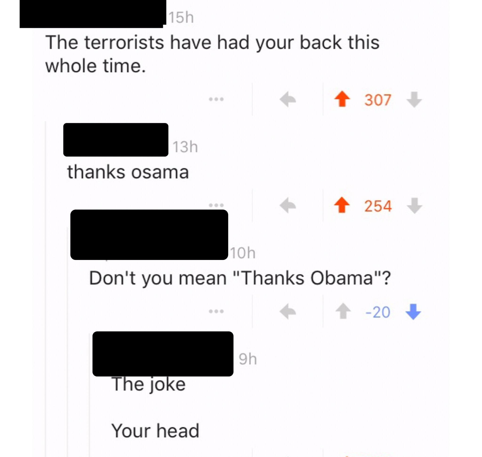 On a comment about using 9/11 to remember that September