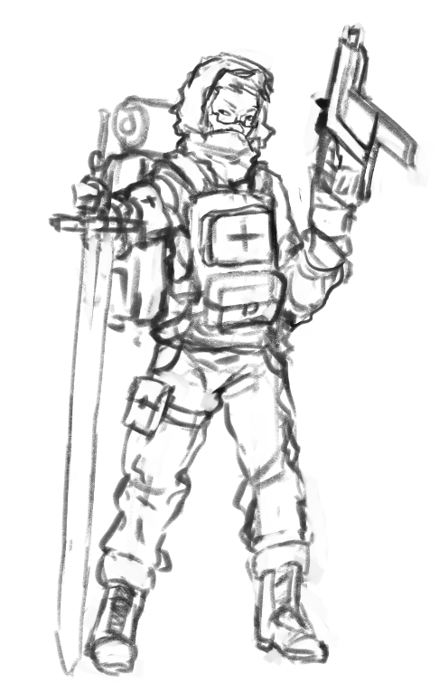 Another drawing, this time of my colony's field medic