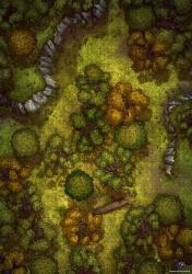 OC][Art] Forest Wilderness Battle Map 24x34 : DnD