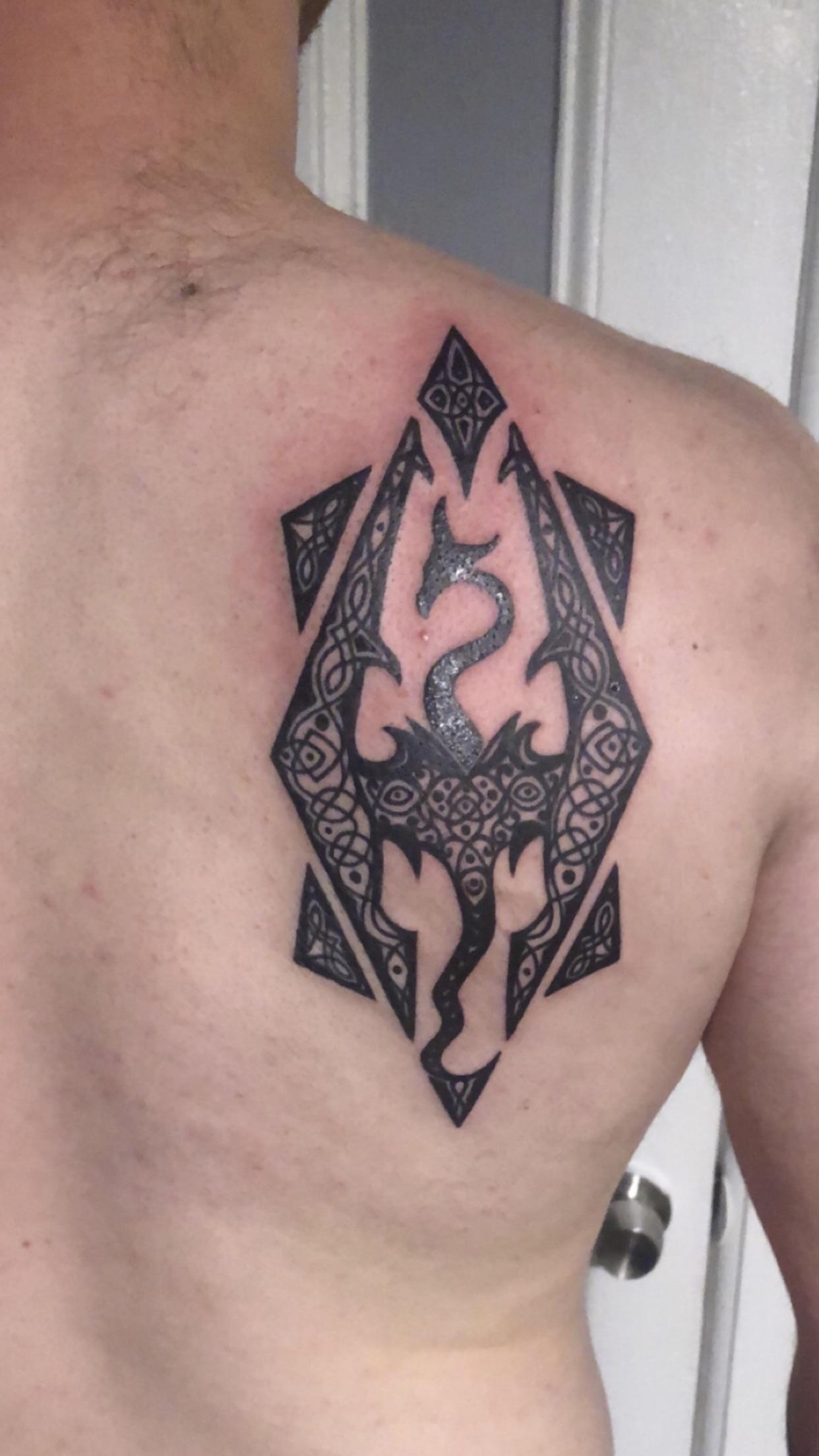 Skyrim Logo Tattoo : skyrim, tattoo, Skyrim, Tattoo, Recently
