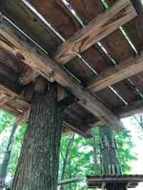 Treehouse Platform Not Attached To Tree Wedges Instead Of Bolts What Is This Called Treehouse