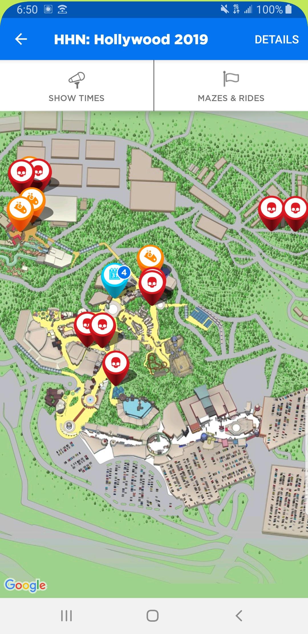Universal Studios Map 2019 : universal, studios, Hollywood, Mazes, Rides:, Universalstudios