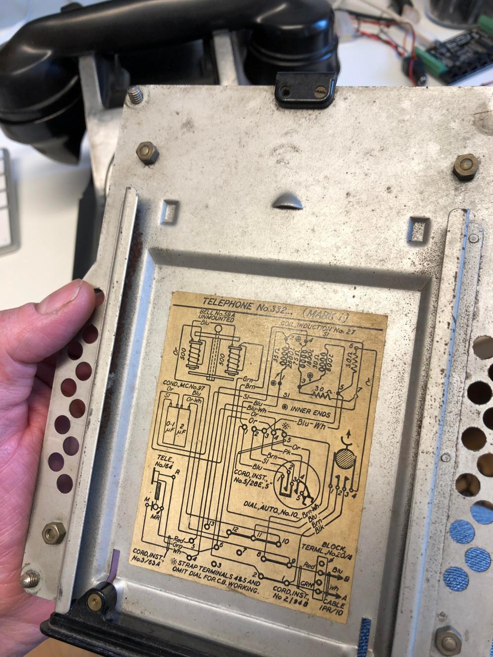 medium resolution of old type telephone wiring