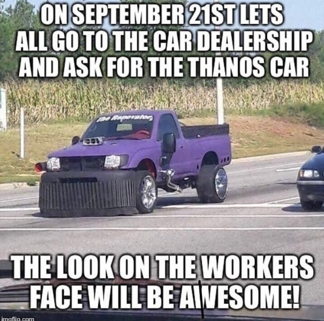 Thanos Car  Pewdiepiesubmissions