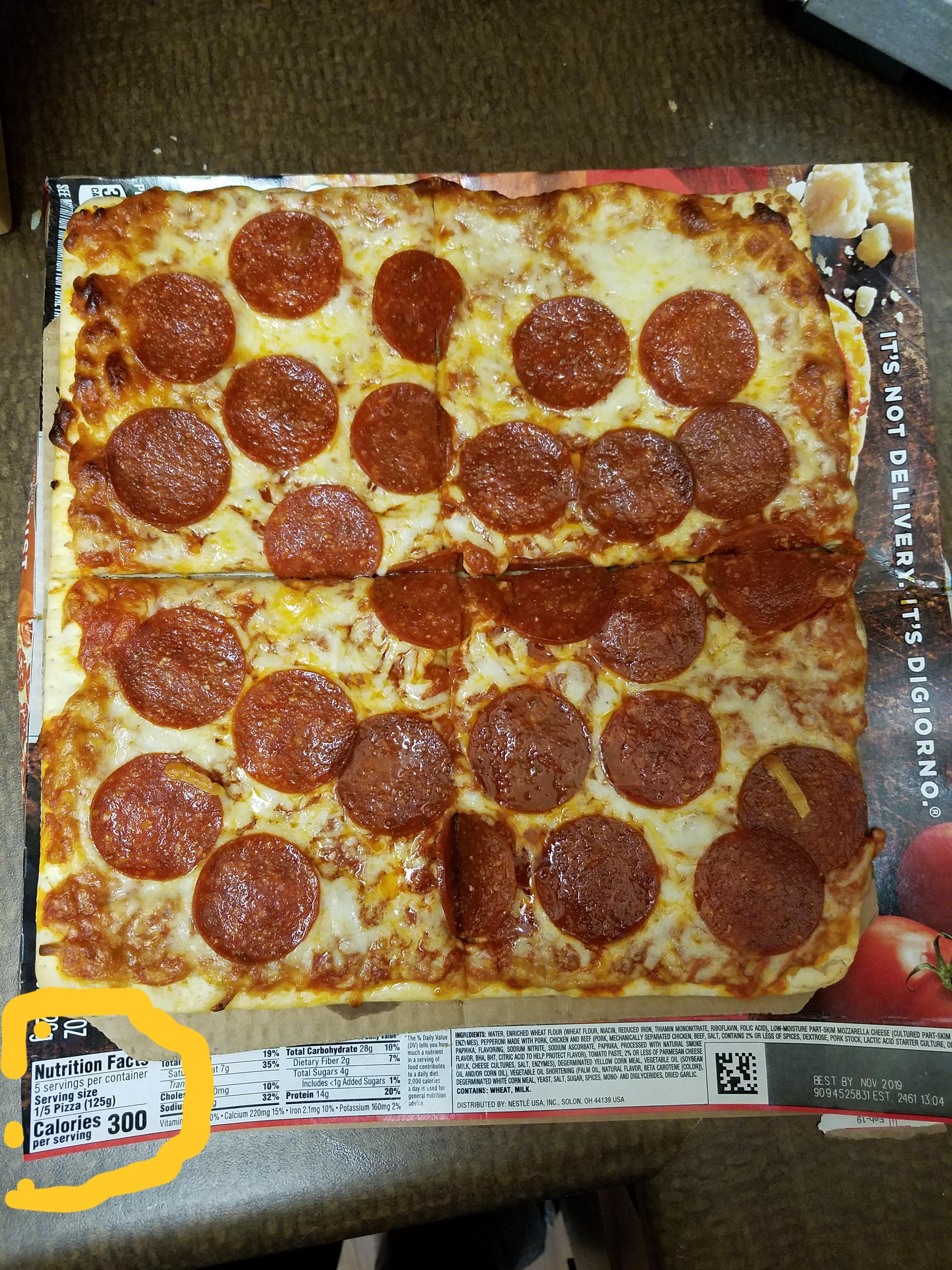1 5 pizza serving