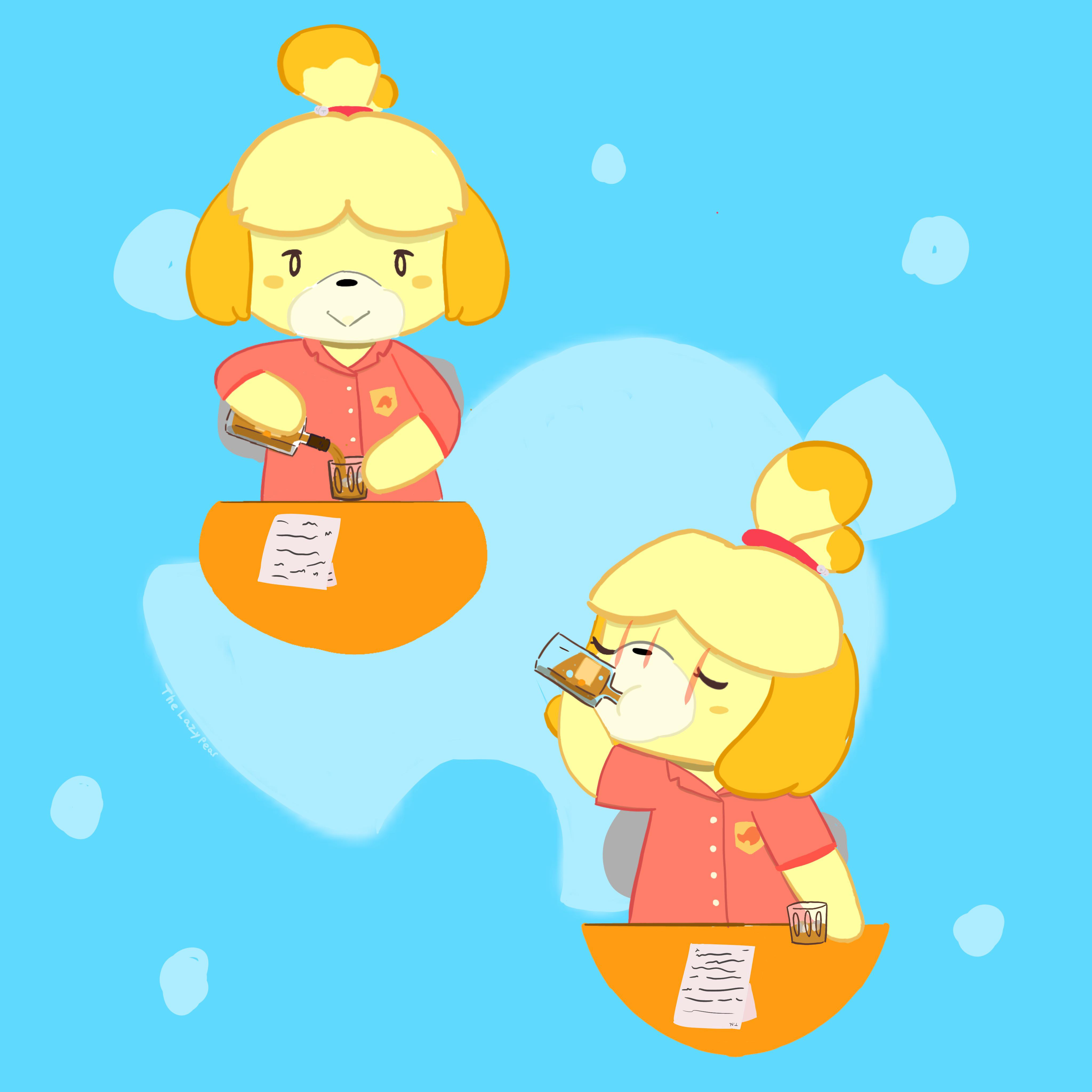 Isabelle S Special Vacation Juice Animalcrossing