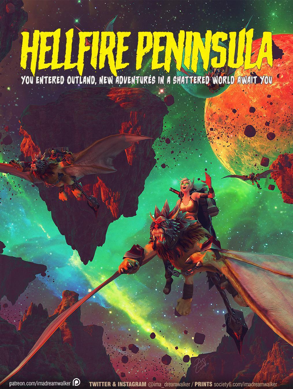 Wow Hellfire Peninsula : hellfire, peninsula, Hellfire, Peninsula, Dreamwalker], Mysterious, Adventures, Await, Shattered, World!, Alliance, Version, Coming, Soon.