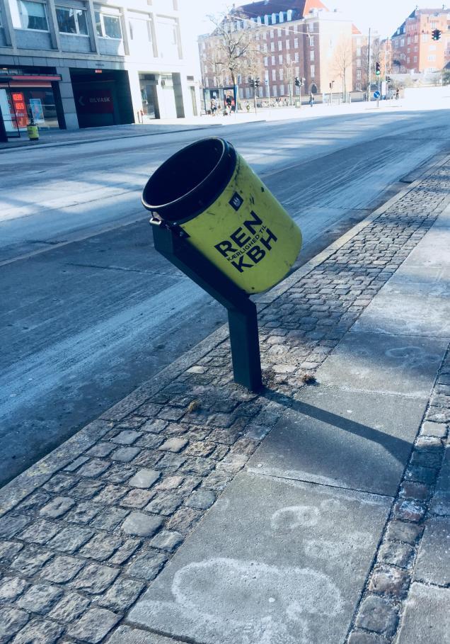 Papeleras en Dinamarca para ciclistas