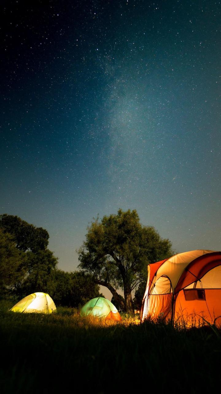 tents, camping, night, nature, dark background HD wallpapers for phone 1350×2400