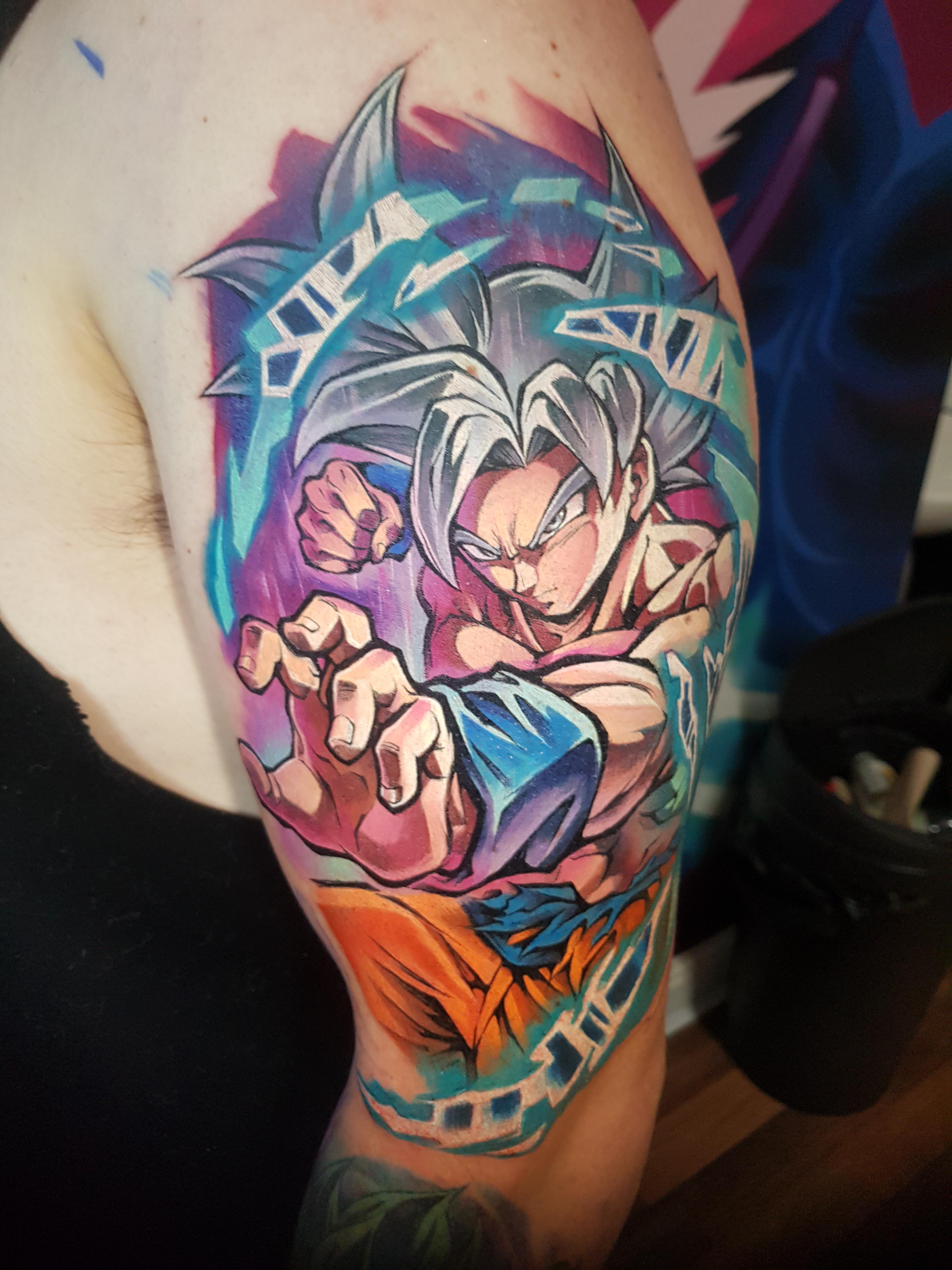 Goku Ultra Instinct Tattoo : ultra, instinct, tattoo, Ultra, Instinct, Tattoo!
