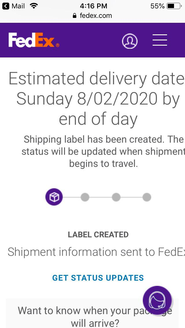 Fedex Label Created But Not Shipped : fedex, label, created, shipped, Really, Confused, Hasn't, Updated, Estimated, Delivery, Today, FedEx