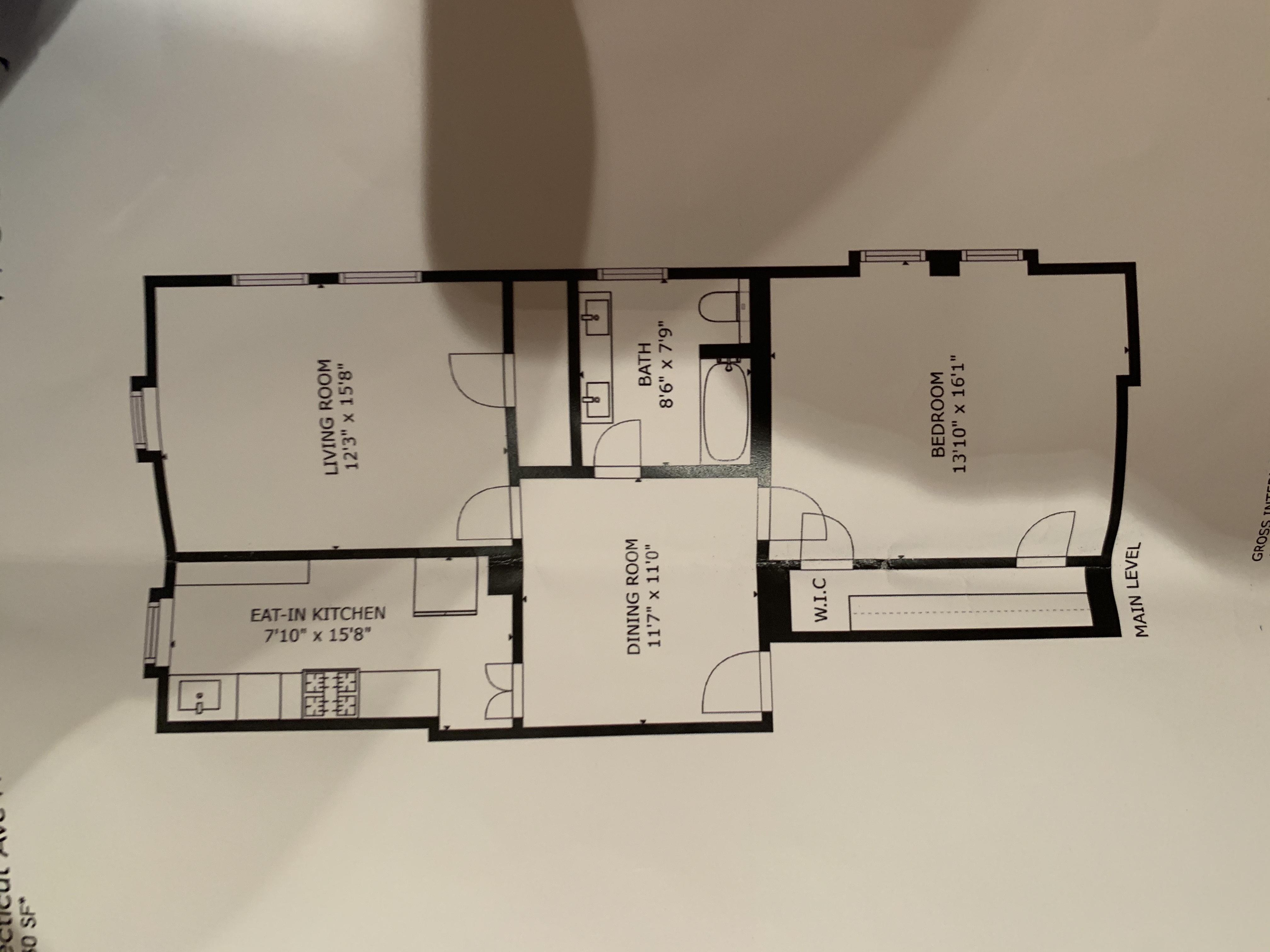 Spacious 1 Bed Condo Redesigned For 2 Beds Floorplan