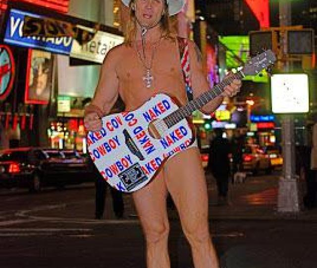 A Times Square Classic The Naked Cowboy Patrols Around Getting