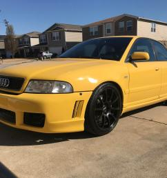 picked up my new project a week ago 2000 audi b5 s4 only 283 of these in imola yellow with a 6mt made in the states that year  [ 4032 x 3024 Pixel ]