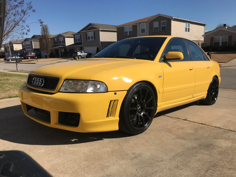 medium resolution of picked up my new project a week ago 2000 audi b5 s4 only 283 of these in imola yellow with a 6mt made in the states that year