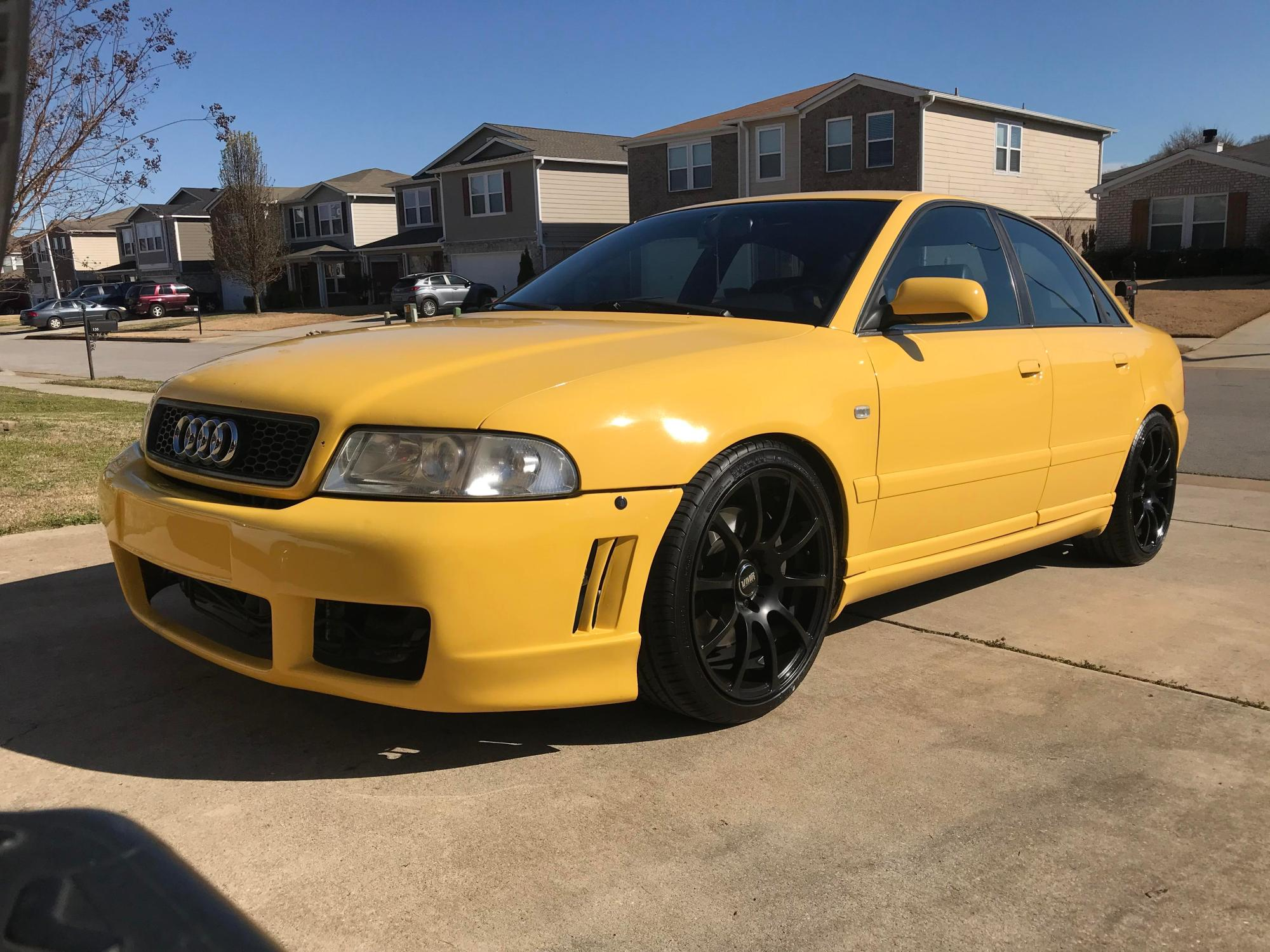 hight resolution of picked up my new project a week ago 2000 audi b5 s4 only 283 of these in imola yellow with a 6mt made in the states that year
