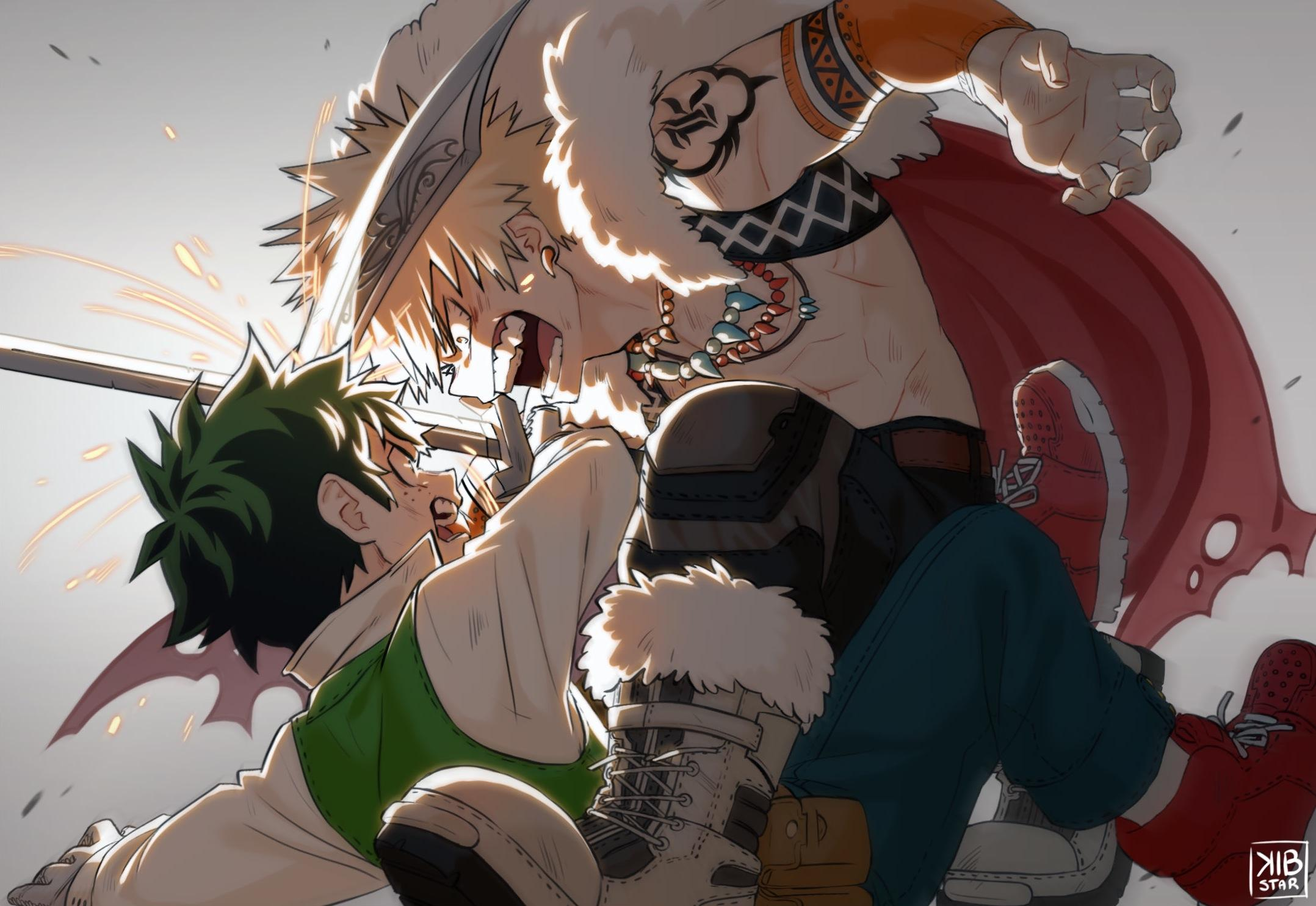 Customize your desktop, mobile phone and tablet with our wide variety of cool and interesting my hero academia wallpapers in just a few clicks! Deku vs Bakugou : BokuNoHeroAcademia