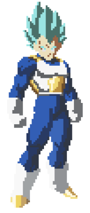 pixel art of vegeta dbz